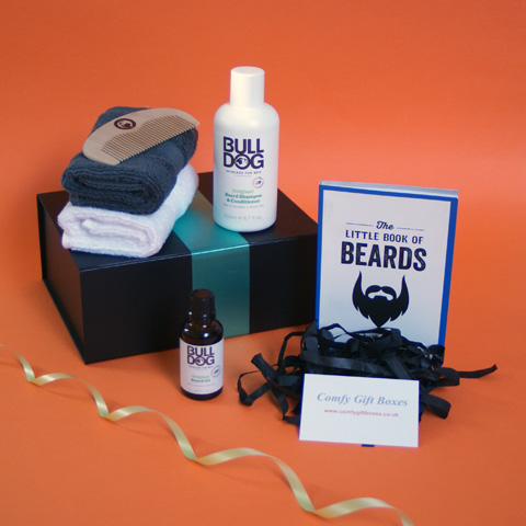 Beard pamper gifts delivered, beard present ideas for men, moustache presents UK, facial hair pampering ideas