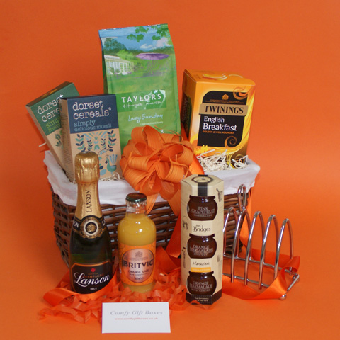 Champagne Housewarming Gift Baskets, Gift Baskets For New Homes, Moving In  Gift Hamper Ideas