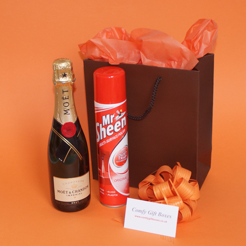 Champagne New Home Gifts, Housewarming Gifts, Moving In House Warming Gifts,  New House