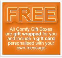 Comfy Gift Boxes - pamper gift baskets UK, free gift wrapping and gift card personalised with your own message
