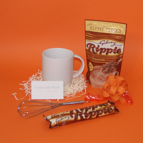 Small Galaxy chocolate gift ideas, Galaxy Ripple hot chocolate thank you presents UK