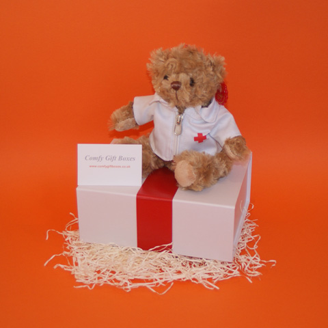Small get well teddy bear gift ideas UK delivery, get well gifts for work mates in hospital, hospital get well doctor teddy bear gifts for children, hospital gifts UK delivery