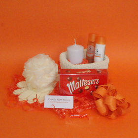 Maltesers® chocolate pamper gift hampers, get well pampering gifts, Maltesers® pamper hamper presents delivered