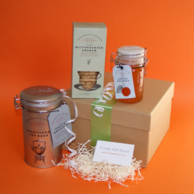 House warming gift ideas, new home gift hamper UK, tea and biscuits hampers, moving house gifts delivered