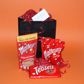 Maltesers chocolate selection gifts UK, small get Maltesers gifts, mini chocolate gifts for him, Maltesers gifts UK delivery