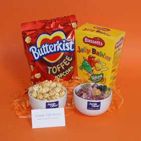 Popcorn and sweets treats for new homes, moving in gift idea, unique moving house gifts, moving to a new home gifts UK, housewarming gift ideas delivered