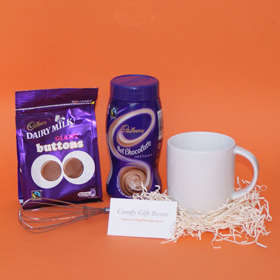 Cadbury hot chocolate thank you gifts, small chocolate gifts, small thank you presents, mini thank you presents for girlfriends, Cadbury chocolate thank you gifts