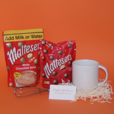 Maltesers hot chocolate thank you gifts, small chocolate gift ideas, small thank you presents, mini thank you presents for girlfriends, Malteser chocolate thank you gifts