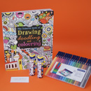 Therapeutic doodling and colouring gift set, pass the time in hospital with a colouring get well gift, get well soon gifts for teenagers, grown up get well soon gift ideas UK delivery